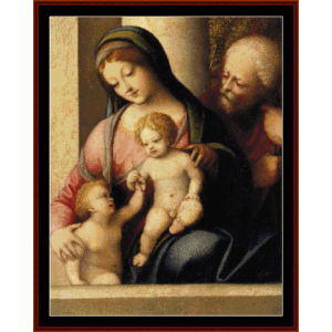 Holy Family with Infant St. John, 1515 - Correggio cross stitch pattern by Cross Stitch Collectibles | Crafting | Cross-Stitch | Wall Hangings