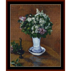 Still Life with Lilacs - Caillebotte cross stitch pattern by Cross Stitch Collectibles | Crafting | Cross-Stitch | Wall Hangings