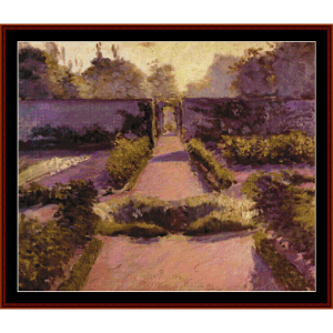 The Kitchen Garden at Yerres - Caillebotte cross stitch pattern by Cross Stitch Collectibles | Crafting | Cross-Stitch | Wall Hangings