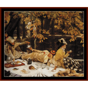 holiday, 1876 - tissot cross stitch pattern by cross stitch collectibles
