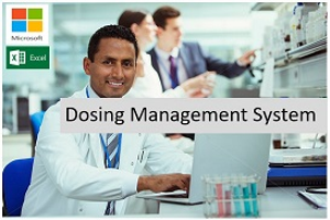 dosing management system for ms excel