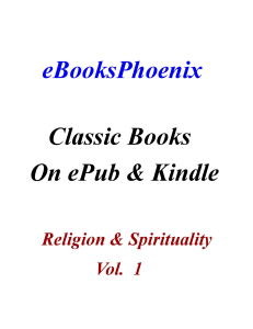 ebooksphoenix classic books religion & spirituality vol. 1