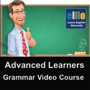advanced grammar + listening course