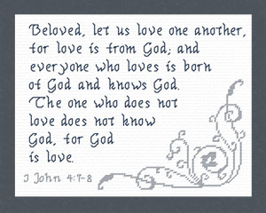 Love is from God | Crafting | Cross-Stitch | Religious