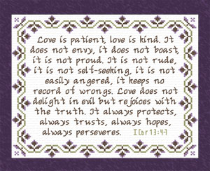 Love Always | Crafting | Cross-Stitch | Religious