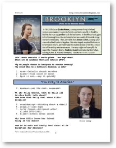 brooklyn, whole-movie english (esl) lesson