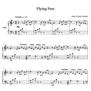 flying free, harp solo