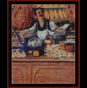 Baker, 1920 - Kustodiev cross stitch pattern by Cross Stitch Collectibles   Crafting   Cross-Stitch   Wall Hangings