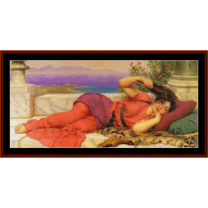 Noon Day Rest, 1910 - Godward cross stitch pattern by Cross Stitch Collectibles | Crafting | Cross-Stitch | Other