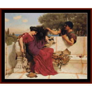 The Old Story, 1903 - Godward cross stitch pattern by Cross Stitch Collectibles | Crafting | Cross-Stitch | Wall Hangings