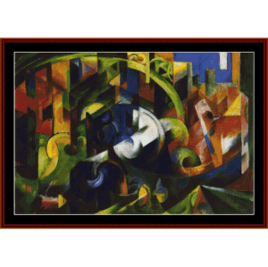 cattle, 1913 - franz marc cross stitch pattern by cross stitch collectibles
