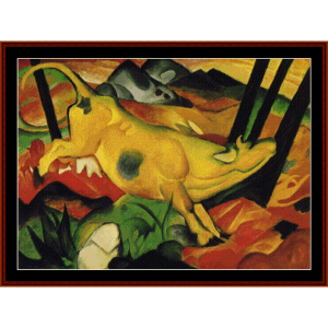 The Yellow Cow, 1911 - Franz Marc cross stitch pattern by Cross Stitch Collectibles | Crafting | Cross-Stitch | Wall Hangings