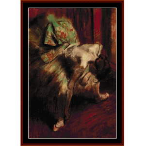 dancer in green tutu - degas cross stitch pattern by cross stitch collectibles