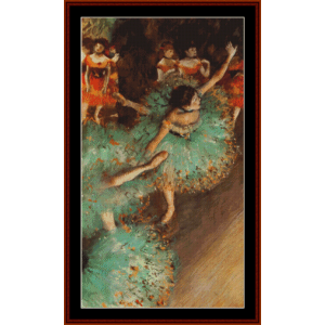 The Green Dancer, 1879 - Degas cross stitch pattern by Cross Stitch Collectibles | Crafting | Cross-Stitch | Other