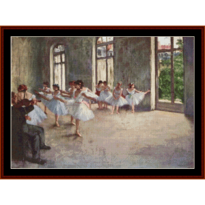 The Rehearsal - Degas cross stitch pattern by Cross Stitch Collectibles | Crafting | Cross-Stitch | Other