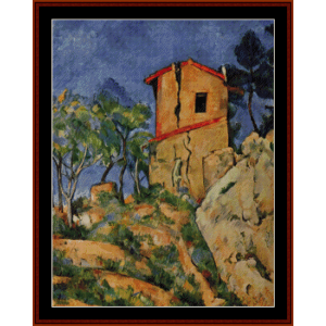 House with Cracked Walls - Cezanne cross stitch pattern by Cross Stitch Collectibles | Crafting | Cross-Stitch | Other
