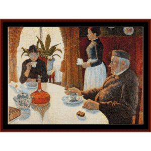 Breakfast, the Dining Room - Signac cross stitch pattern by Cross Stitch Collectibles | Crafting | Cross-Stitch | Other