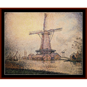 Dutch Mill at Edam - Signac cross stitch pattern by Cross Stitch Collectibles | Crafting | Cross-Stitch | Other