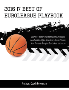 2016-17 best of euroleague playbook