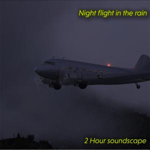 night flight in the rain