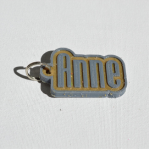 anne single & dual color 3d printable keychain-badge-stamp