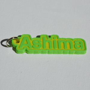 ashima single & dual color 3d printable keychain-badge-stamp