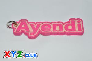 ayendi single & dual color 3d printable keychain-badge-stamp