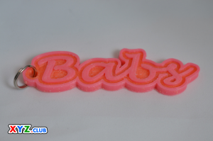 babs single & dual color 3d printable keychain-badge-stamp