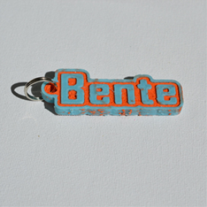 bente single & dual color 3d printable keychain-badge-stamp