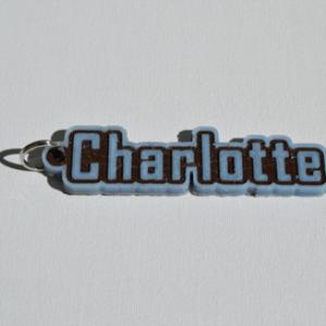 charlotte single & dual color 3d printable keychain-badge-stamp