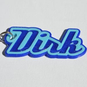 dirk single & dual color 3d printable keychain-badge-stamp