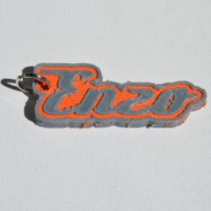 enzo single & dual color 3d printable keychain-badge-stamp