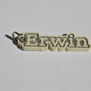 erwin single & dual color 3d printable keychain-badge-stamp