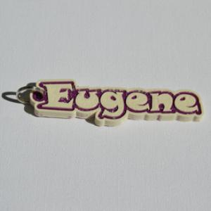 eugene single & dual color 3d printable keychain-badge-stamp