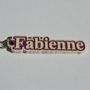fabienne single & dual color 3d printable keychain-badge-stamp