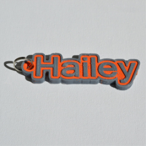 hailey single & dual color 3d printable keychain-badge-stamp