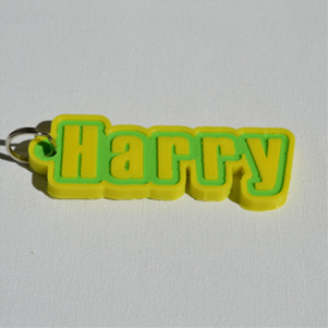 harry single & dual color 3d printable keychain-badge-stamp