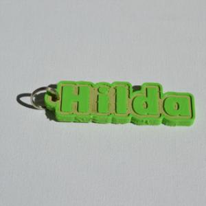 hilda single & dual color 3d printable keychain-badge-stamp