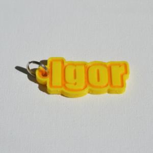 igor single & dual color 3d printable keychain-badge-stamp