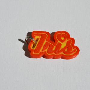 iris single & dual color 3d printable keychain-badge-stamp