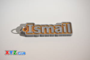 ismail single & dual color 3d printable keychain-badge-stamp