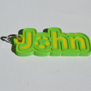 john single & dual color 3d printable keychain-badge-stamp
