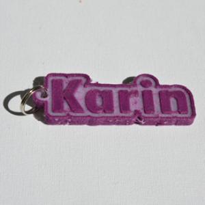 karin single & dual color 3d printable keychain-badge-stamp
