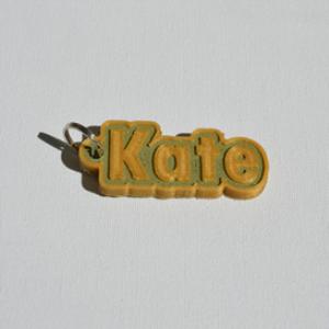 kate single & dual color 3d printable keychain-badge-stamp