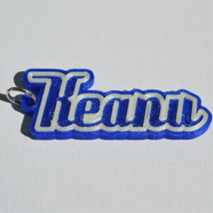 keanu single & dual color 3d printable keychain-badge-stamp