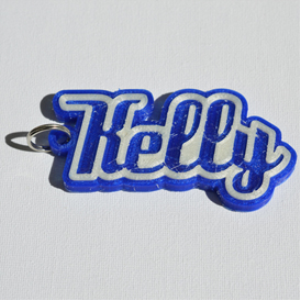kelly single & dual color 3d printable keychain-badge-stamp