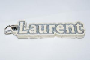 laurent single & dual color 3d printable keychain-badge-stamp