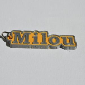 milou single & dual color 3d printable keychain-badge-stamp