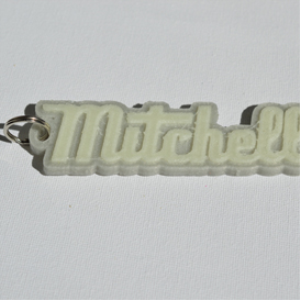 mitchell single & dual color 3d printable keychain-badge-stamp