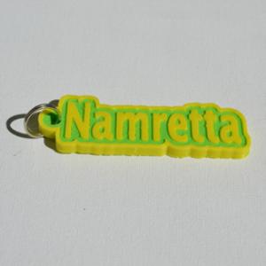 namretta single & dual color 3d printable keychain-badge-stamp